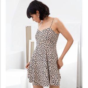 & Other Stories Leopard Mini Skater Dress